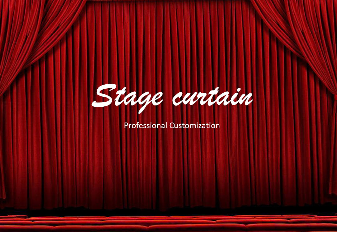 Elegant Red Stage Curtain-Velvet Fabrics