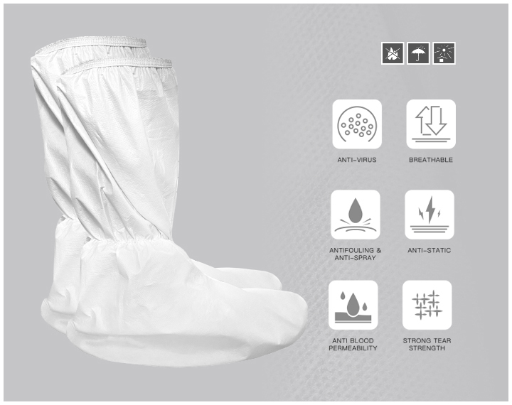 DISPOSABLE PROTECTIVE SHOE COVERS- -HIGH