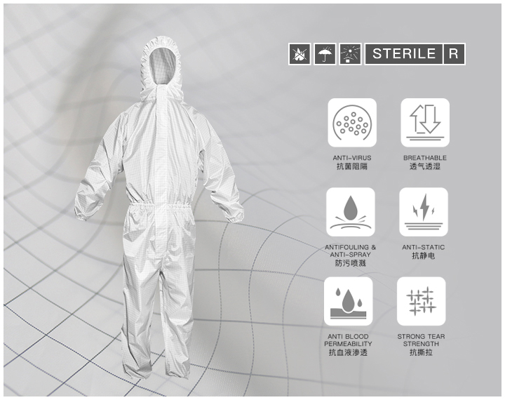 What is the fabric of isolation protective gown