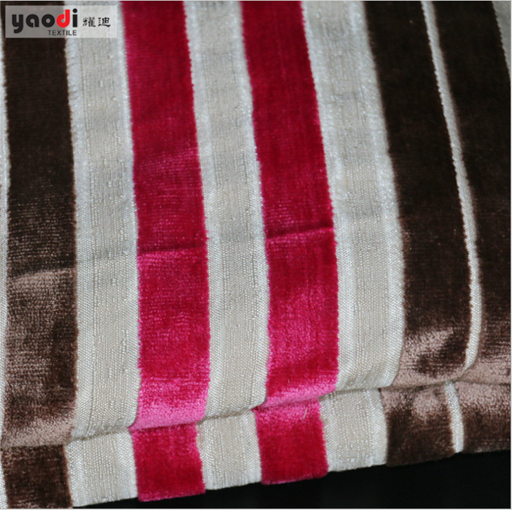Flame retardant cut pile Velour fabric-strip